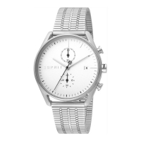 Esprit ES1G098M0055 Lock Chrono Silver Mesh Mens Watch Chronograph
